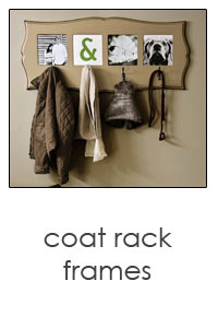 coat rack photo frame in a variety in colors and styles