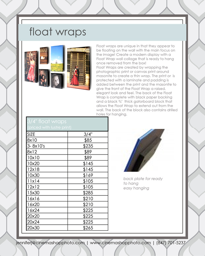 float wraps