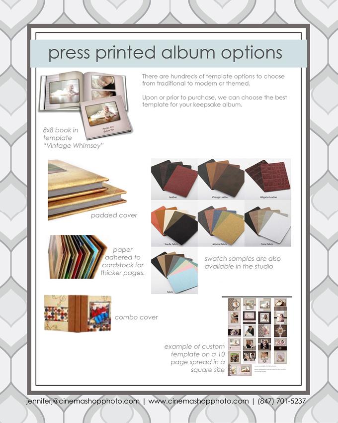 press printed album options