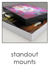 """standout mount 3/4"""" foam core with finished edges"""