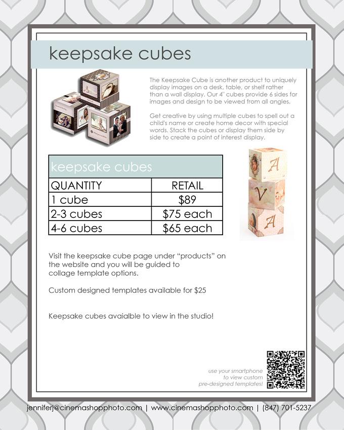 "4"" Photo Keepsake Cubes"
