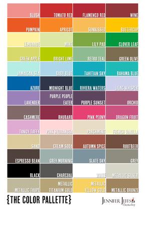 whimsical frame color chart