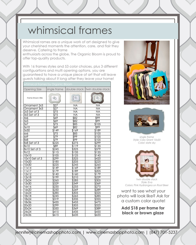 Whimsical Frames by The Organic Bloom