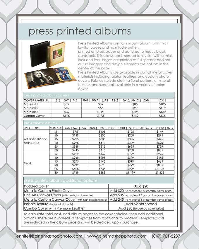 press printed albums
