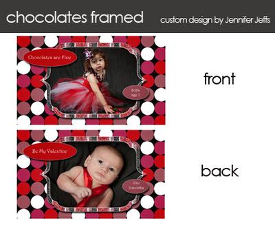 circle chocolate mini valentine template