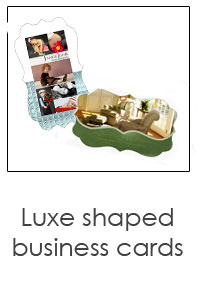 custom shaped luxe cards designed just for you